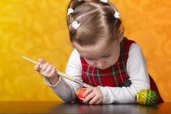 картина девушки пасхальныхя Стоковое Изображение RF