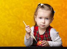 картина девушки пасхальныхя Стоковые Фото