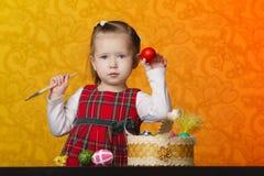 картина девушки пасхальныхя Стоковое Фото
