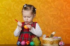 картина девушки пасхальныхя Стоковая Фотография