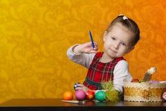 картина девушки пасхальныхя Стоковые Фотографии RF