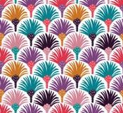 Картина декоративного вектора безшовная с пальмами Стоковое Фото