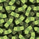 Картина денег безшовная Предпосылка наличных дег европейское падая небо дождя дег Стоковые Изображения RF
