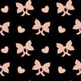 Картина ленты смычка пастельного пинка милая безшовная Стоковое Изображение RF