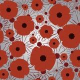 Картина день памяти погибших в первую и вторую мировые войны безшовная Стоковое Изображение