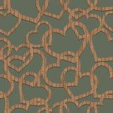 Картина деревянных сердец иллюстрация вектора