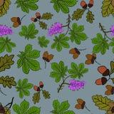 Картина леса акварели Вектор 1 иллюстрация штока