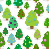 Картина леса рождества зимы безшовная Стоковые Изображения RF