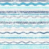 Картина лета безшовная волнистая Этнические и племенные мотивы striped Стоковые Фото