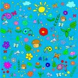 Картина лета детей Стоковые Изображения