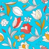 Картина лета с тюльпанами иллюстрация штока
