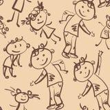 Картина детей танцев безшовная Стоковое Изображение RF