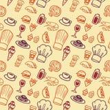 картина еды безшовная Стоковые Изображения