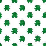 Картина жаб безшовная Стоковое Изображение RF