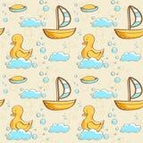Картина жемчужной ванны безшовная Стоковые Изображения RF