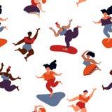 Картина женщин тела pozitive скача иллюстрация штока