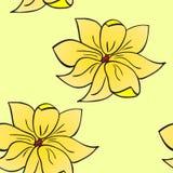Картина желтых цветков Иллюстрация штока