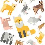 Картина животных безшовная бесплатная иллюстрация