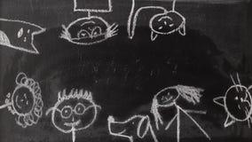 Картина животных леса безшовная сток-видео