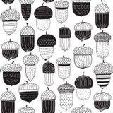Картина жолудей Doodle безшовная бесплатная иллюстрация