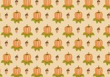 Картина жолудя и тыквы Стоковые Фотографии RF