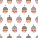 Картина жолудей младенца безшовная бесплатная иллюстрация