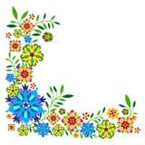Картина завода с цветками и листьями Стоковое Изображение