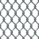 Картина загородки звена цепи безшовная иллюстрация вектора