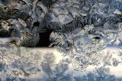 Картина заморозка зимы на стекле стоковые изображения rf