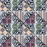 Картина заплатки безшовная ретро флористическая орнаментальная Стоковые Фотографии RF