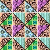 Картина заплатки безшовная ретро флористическая орнаментальная Стоковые Изображения