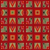 Картина заплатки безшовная с цветами геометрических элементов ретро Стоковая Фотография