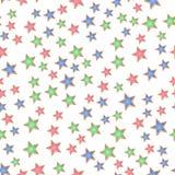 Картина звезды Нового Года безшовная Стоковые Фотографии RF