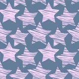 Картина звезды безшовная Стоковое Изображение