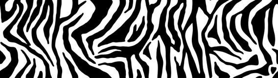 Картина зебры, стильная текстура нашивок Животная естественная печать Для дизайна обоев, ткань, крышка Backgro вектора безшовное бесплатная иллюстрация