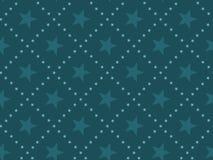 Картина зеленой абстрактной концепции звезды безшовная Стоковые Изображения