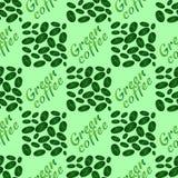 Картина зеленого кофе безшовная Стоковое Фото