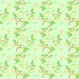 Картина зеленого яблока безшовная Стоковые Фотографии RF