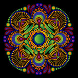 Картина зеленое Пейсли Стоковое Изображение RF
