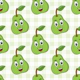 Картина зеленой груши шаржа безшовная Стоковое фото RF