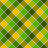 Картина зеленой желтой раскосной шотландки проверки безшовная иллюстрация штока