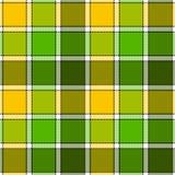 Картина зеленой желтой шотландки проверки безшовная иллюстрация штока