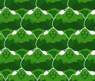 Картина зеленых извергов безшовная Злие и мощные гоблины Vekt Стоковая Фотография
