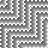 Картина зигзага дизайна безшовная monochrome бесплатная иллюстрация