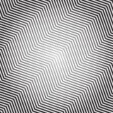 Картина зигзага с динамическим, линии сложной формы Геометрический циркуляр иллюстрация штока