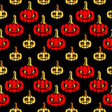 Картина зигзага хеллоуина с тыквами Стоковые Фото