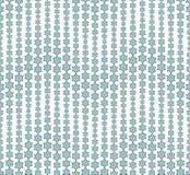Картина зимы абстрактная безшовная на белой предпосылке Имеет форму волны Снежинки различных размеров в teal Стоковое Изображение RF
