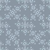 Картина зимы безшовная белая на голубой предпосылке Стоковые Изображения