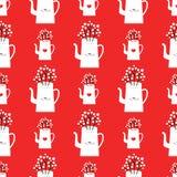 Картина зимы вектора с чайниками бесплатная иллюстрация