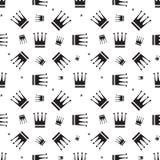 Картина значка кроны безшовная Стоковая Фотография